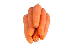 Sweet and fresh carrot. On a white background Stock Photography