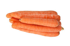 Sweet and fresh carrot. On a white background Royalty Free Stock Image