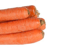 Sweet and fresh carrot. On a white background Stock Photos