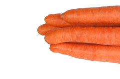 Sweet and fresh carrot. On a white background Royalty Free Stock Photos