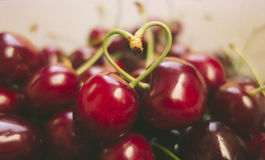 Sweet fresh cherries in film style Royalty Free Stock Photo