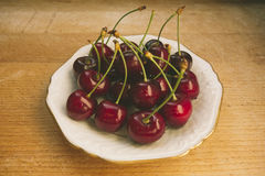Sweet fresh cherries in film style Royalty Free Stock Photography