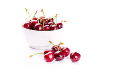 Sweet fresh cherry in a bowl  Stock Photography