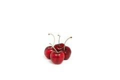 Sweet fresh cherry isolated on white background.  Royalty Free Stock Image