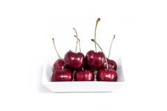 Sweet fresh cherry isolated on white background.  Stock Images