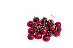 Sweet fresh cherry isolated on white background Royalty Free Stock Images