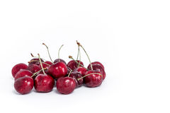 Sweet fresh cherry isolated on white background Royalty Free Stock Photography