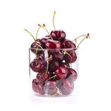 Sweet fresh cherry isolated on white background Royalty Free Stock Photos