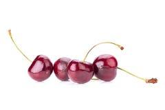 Sweet fresh cherry  on white background Royalty Free Stock Photo