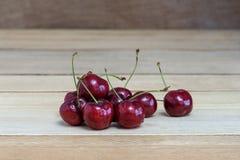 Sweet fresh cherry on wooden.  Stock Photo