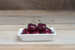 Sweet fresh cherry on wooden Royalty Free Stock Photo