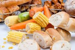 Sweet fresh corn bread Stock Image