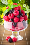 Sweet fresh fruits in glass goblet Royalty Free Stock Photography