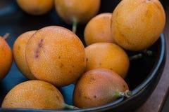 Sweet and Fresh Group of Granadilla or Grenadia royalty free stock image