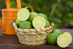 Sweet fresh lemon in natural light on old wood Royalty Free Stock Photo
