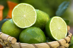 Sweet fresh lemon in natural light on old wood Royalty Free Stock Photos