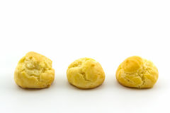 Sweet Fresh Mini Cream Puffs, Profiterole, Choux,Eclair. Royalty Free Stock Photo