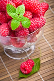 Sweet fresh raspberry fruits Stock Photo