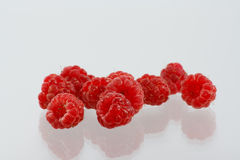 The sweet fresh red raspberries Royalty Free Stock Photo