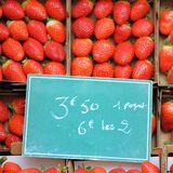 Sweet fresh strawberry for sale Royalty Free Stock Images