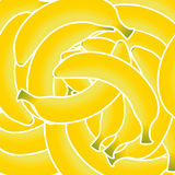 Sweet fresh yellow bananas vector illustration. Background. This is file of EPS10 format Stock Images