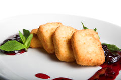 Sweet fried cheese Royalty Free Stock Photo
