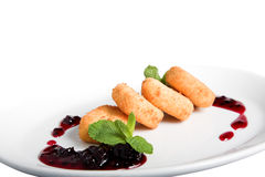 Sweet fried cheese Royalty Free Stock Image