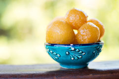 Free Sweet Fried Dough Balls With Honey Royalty Free Stock Photos - 77445098