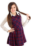 Sweet friendly young student girl Stock Image