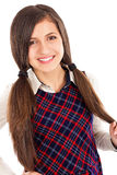 Sweet friendly young student girl Stock Photography
