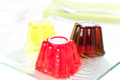 Sweet  friuit gelatin Royalty Free Stock Photos