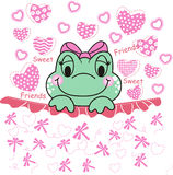 Sweet Frog. Illustration about sweet frog that loving friendship Royalty Free Stock Photography