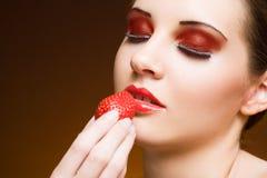 Sweet fruit craving. Stock Photos