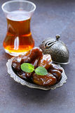 Sweet fruit dates for traditional tea. Party Stock Images