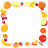 Sweet fruit frame with place for text Stock Image