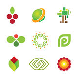 Sweet fruit of green nature safe world community logo icon Royalty Free Stock Photography
