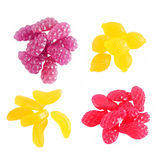 Sweet Fruit gummi candies Royalty Free Stock Photography