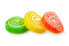 Sweet fruit  jelly candies Royalty Free Stock Images