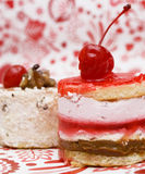 Sweet Fruit Red Cake With Cherry Royalty Free Stock Photos