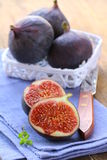 Sweet fruit ripe figs Royalty Free Stock Image