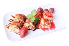 Sweet fruit roll Stock Photos