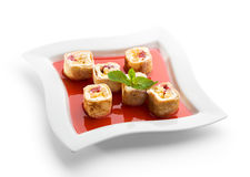 Sweet Fruit Sushi Roll Royalty Free Stock Photos