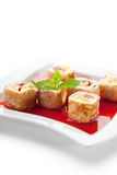 Sweet Fruit Sushi Roll Stock Image