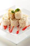 Sweet Fruit Sushi Roll Stock Photos