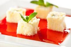 Sweet Fruit Sushi Roll Stock Image