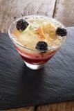 Sweet fruit triffle dessert Stock Photography