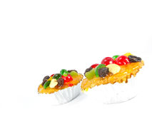 Sweet fruits cake Royalty Free Stock Photo