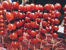 Sweet fruits Street food in Taiwan Royalty Free Stock Image