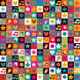 Sweet fun pattern. With cute little characters Stock Photography