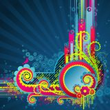 Sweet funky swirls. Vector illustration Royalty Free Stock Photos